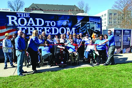 Disability Rights Legislative Road to Freedom group photo