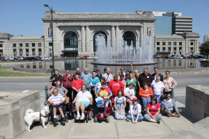 HSRN group photo in front of Union Station
